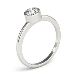 Round Diamond Bezel-Setting Engagement Ring