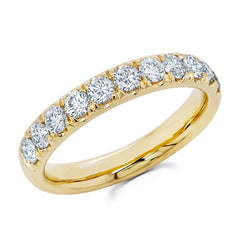 Yellow Gold Prong Set Diamond Band|1.00 Carat Total Weight -  MarquiseJewelers