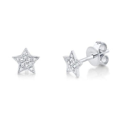White Gold Star Studs | 0.07 Carat Total Weight