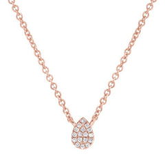 Rose Gold Diamond Pavé Necklace | 0.05 Carat Total Weight