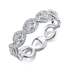 White Gold Infinity Twisted Diamond Band | 0.57 Carat Total Weight