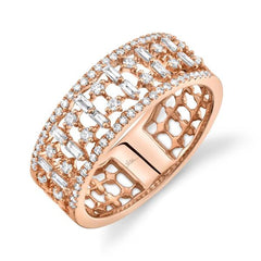 Rose Gold Fashion Diamond Band | 0.52 Carat Total Weight