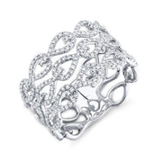 White Gold Fancy Diamond Ring | 0.48 Carat Total Weight