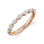 Rose Gold Marquise Diamond Band | 0.51 Carat Total Weight
