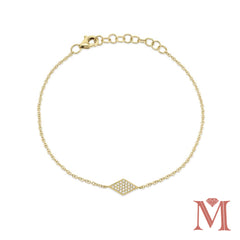 Yellow Gold Petite Diamond Bracelet| 0.11 Carat Total Weight
