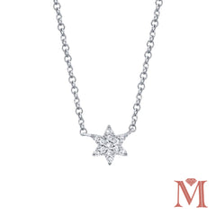 WHITE GOLD DIAMOND MINI STAR NECKLACE | 0.06 CARAT TOTAL WEIGHT