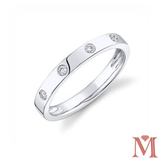 White Gold Diamond Band | 0.07 Carat Total Weight