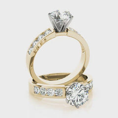 Round Diamond Channel Set Engagement Ring | 1.25 Carat Total Weight