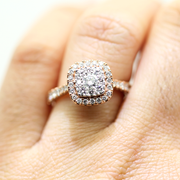 Rose Gold Cushion Frame Diamond Unity Ring | 1.00 Carat Total Weight -  MarquiseJewelers