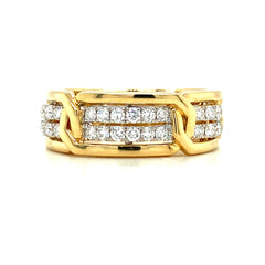 Men's Diamond Double Row Wedding Band | 0.80 Carat Total Weight