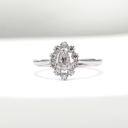 White Gold Marquise Frame Diamond Petite Ring | 0.25 Carat Total Weight -  MarquiseJewelers