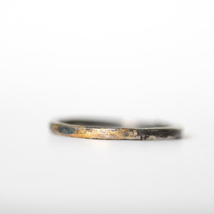 Silver and Gold Band - Thin - Machinations
