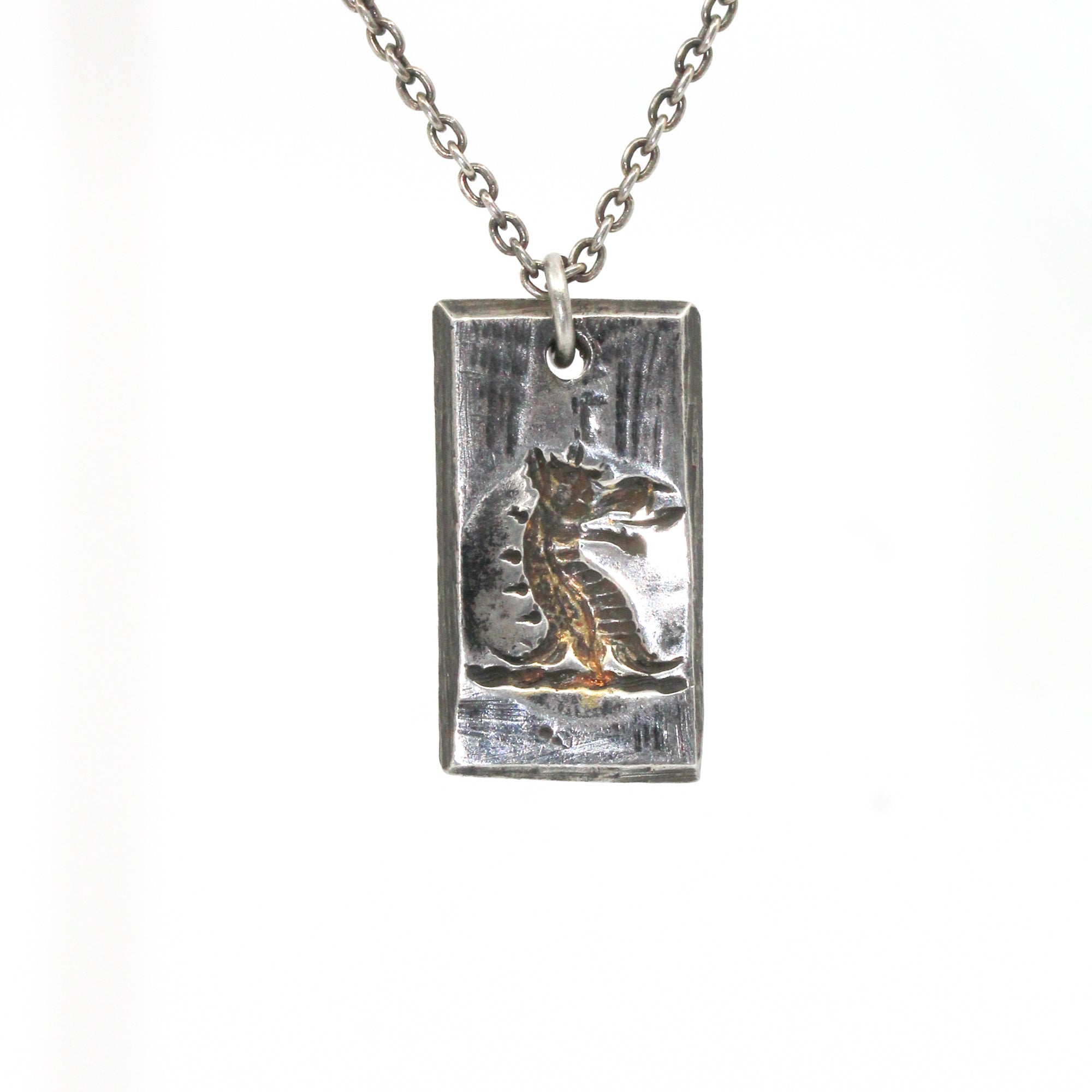 Illuminated Dragon Tag Necklace