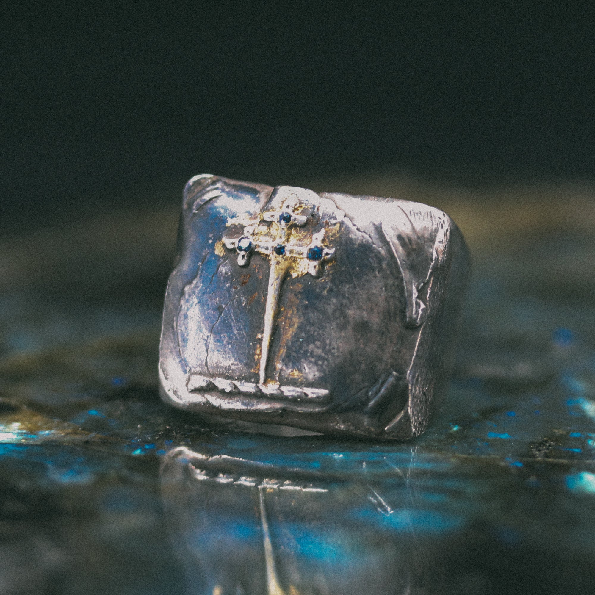 Sword of the Righteous With Sapphire Signet Ring