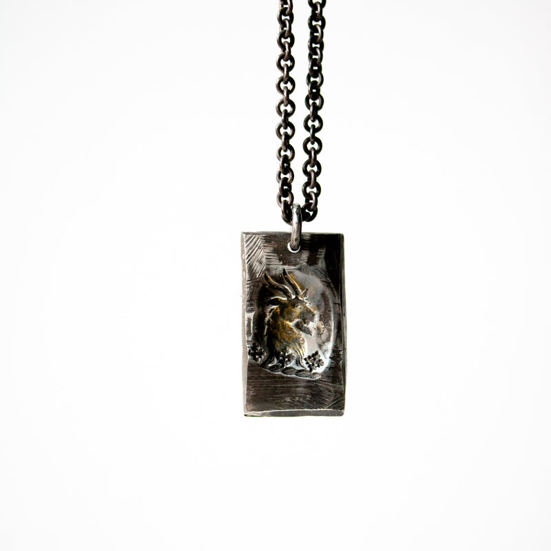 Illuminated Ram Tag Necklace - Machinations