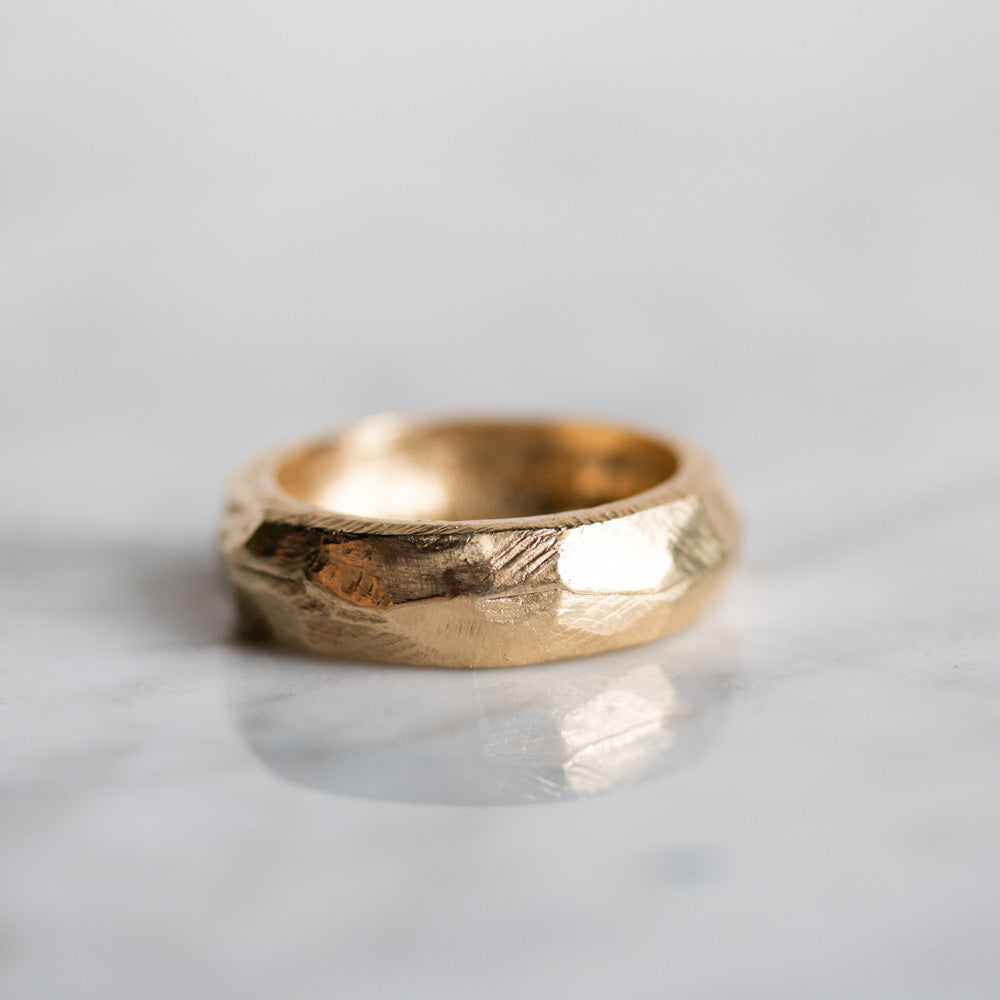 Terra Firma Earth Heavy Gold Ring