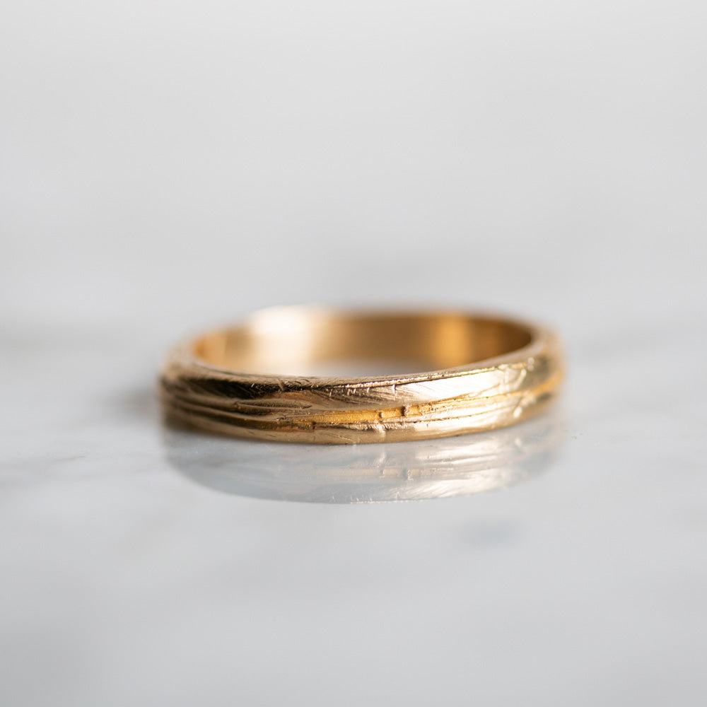 Textured Band Gold Band