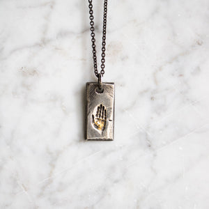 Illuminated Hand Tag Necklace