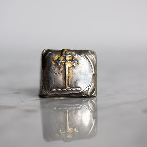 Illuminated Sword of the Righteous With Sapphire Signet Ring