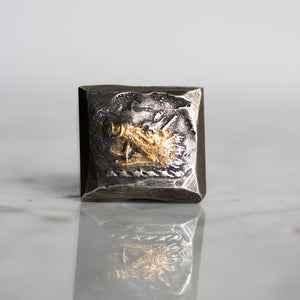 Illuminated Boar Signet Ring