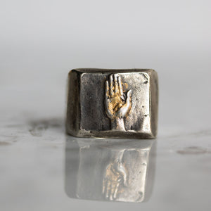 Illuminated Hand Signet Ring