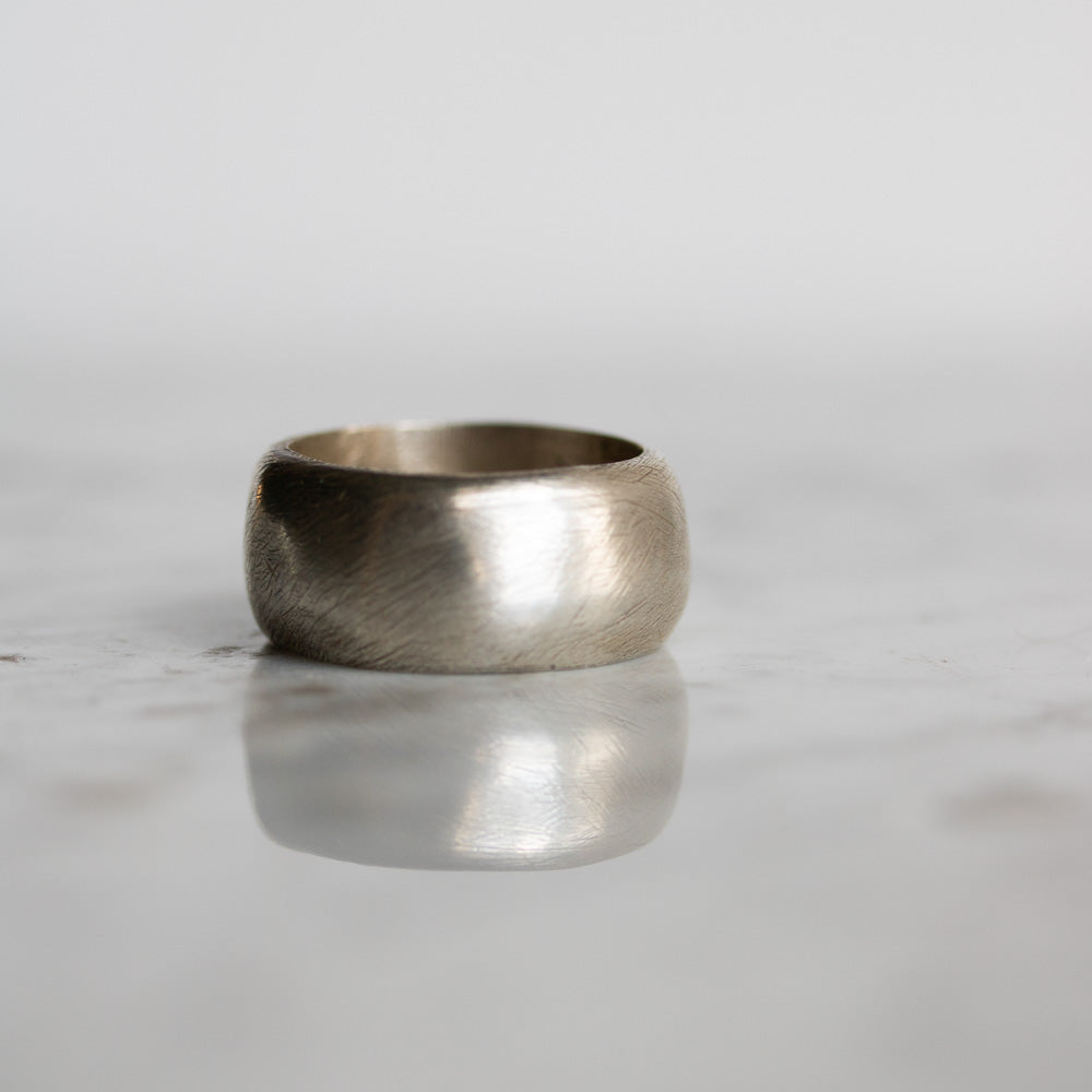 Dome Band Heavy Silver Ring