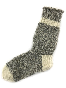 Salt and Pepper - Hand Knit Wool Socks