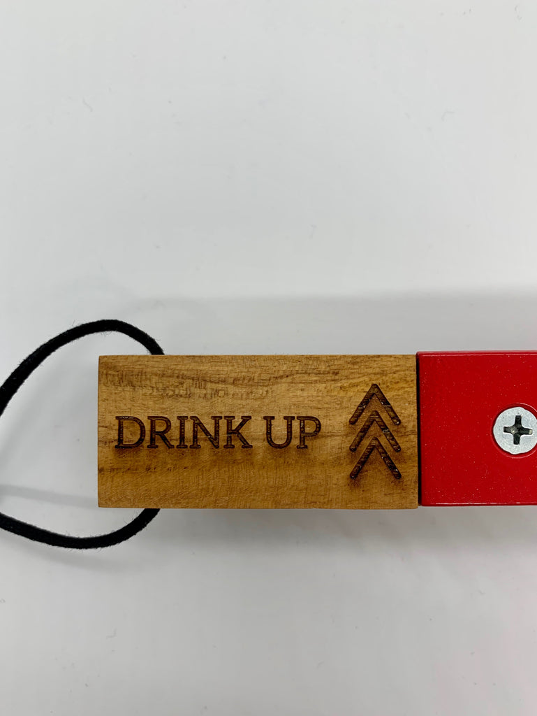 Wooden Bottle Opener - Drink Up