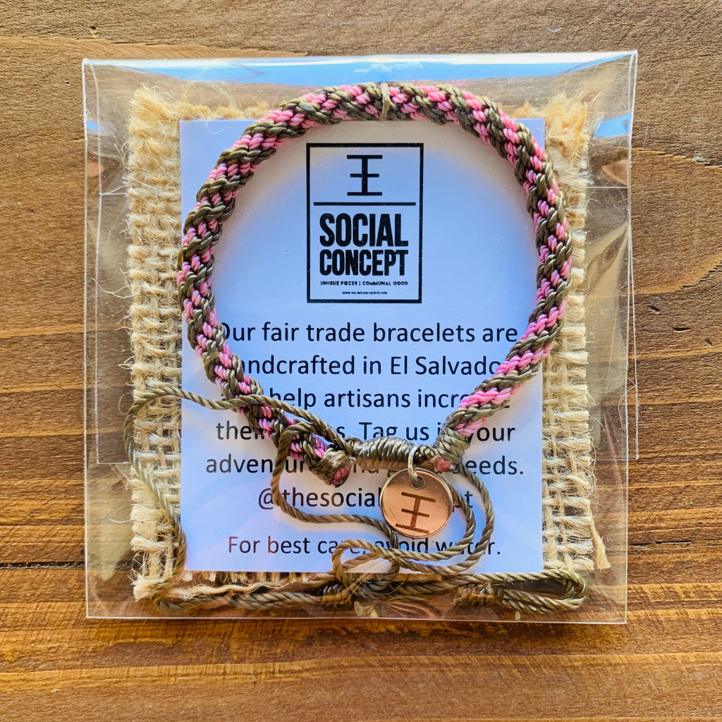 Hand Braided Bracelets with ƎE Charm