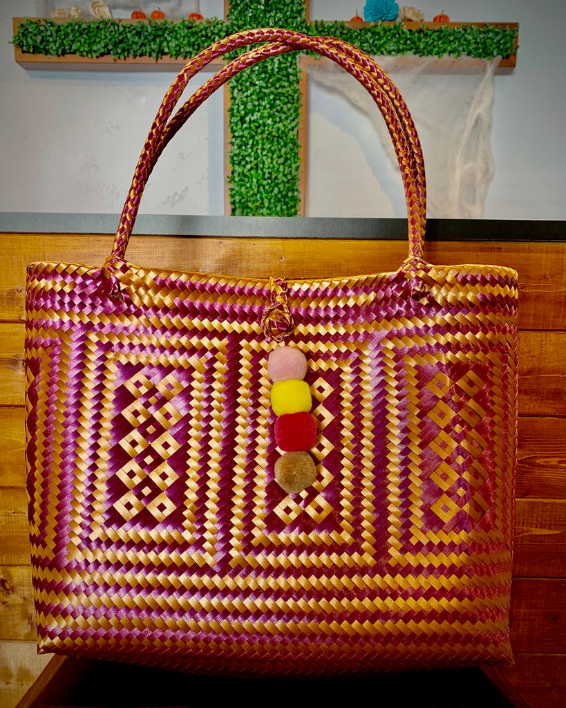 2006 - Gold and Purple Woven Purse
