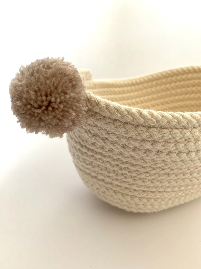 Mini Oval Cotton Basket