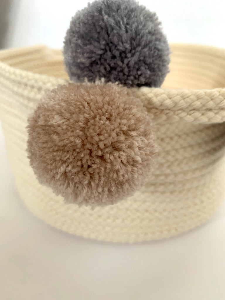 Small Round Cotton Basket