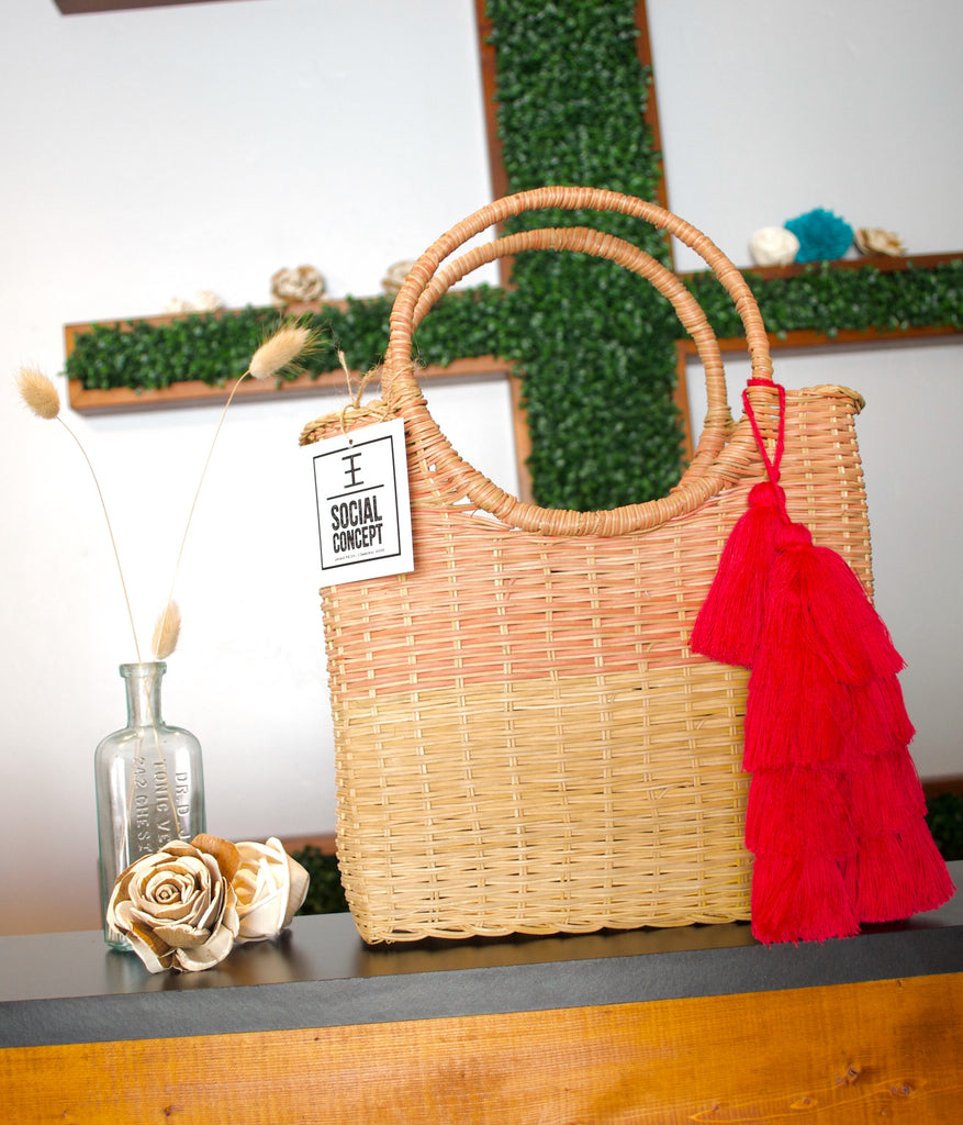 2906 - Wicker Purse
