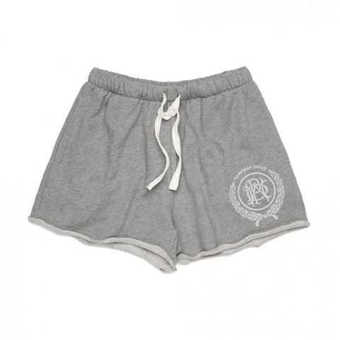 Womens Crest Grey Track Shorts