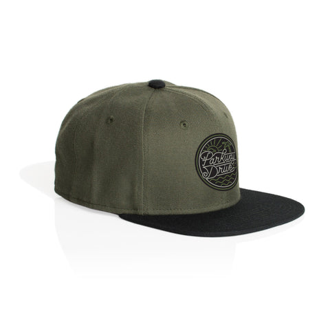 Army/Black Snap Back Cap