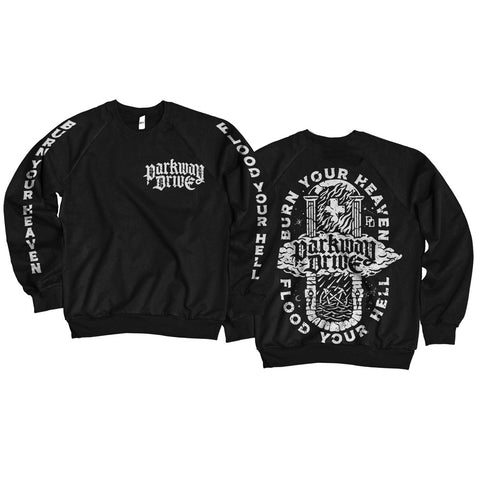 Burn Your Heaven Black Crew-neck Sweatshirt