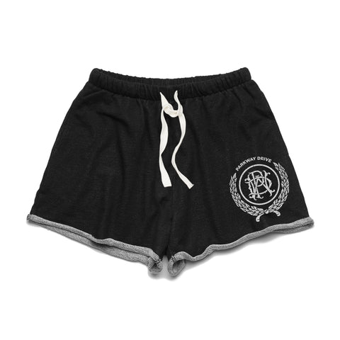 Womens Crest Black Track Shorts