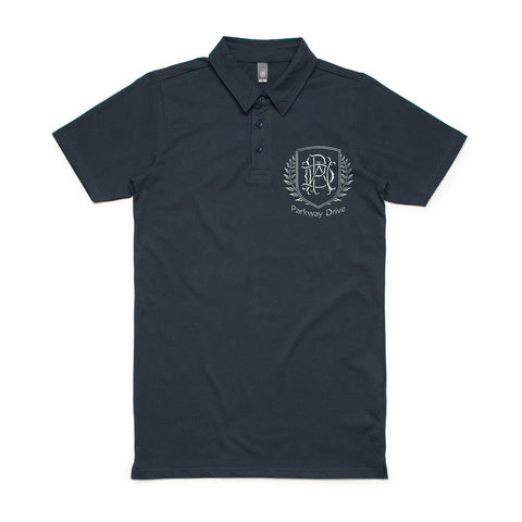 Crest Navy Polo T-shirt