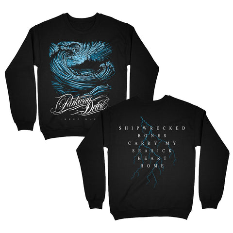Deep Blue Shipwrecked Crewneck Sweatshirt
