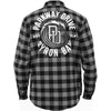 Flannel Shirt (Charcoal/Black)