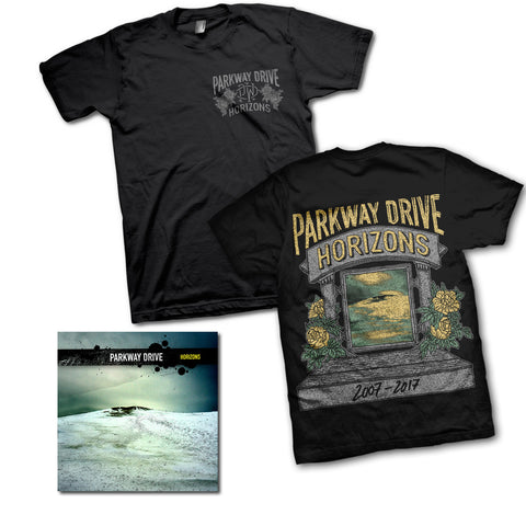 Horizons Anniversary Black T-shirt / CD Bundle