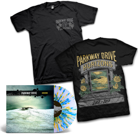 Horizons Anniversary Black T-shirt / Vinyl LP Bundle