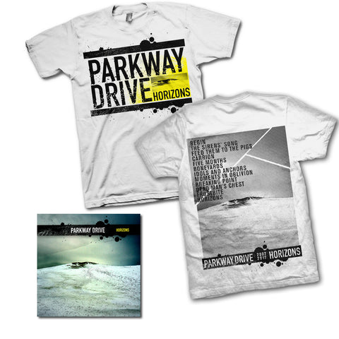 Horizons Anniversary White T-shirt / CD Bundle