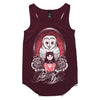 Owl Doll Womans Burgundy Tank