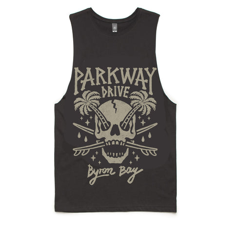 Palm Skull Sleeveless T-shirt