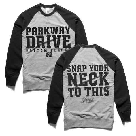 Snap Your Neck Contrast Crew-neck Sweatshirt