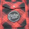 Script Logo Patch Flannel (Red/Black)