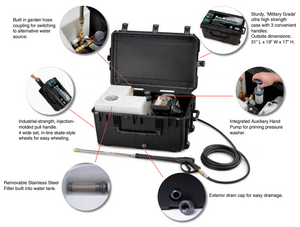 contents of EcoBlaster Portable Pressure Washing System