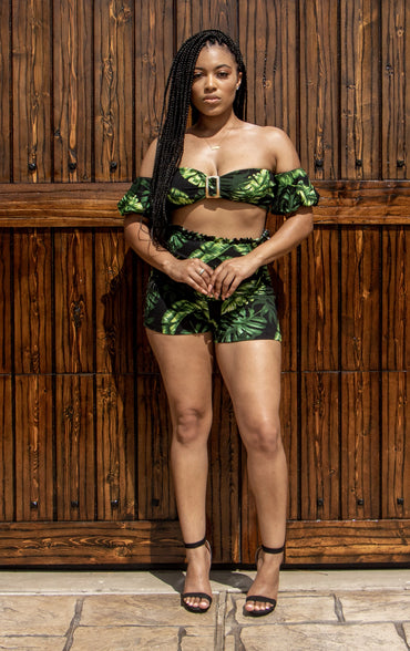 Tropical Nights Two Piece Set (Floral)