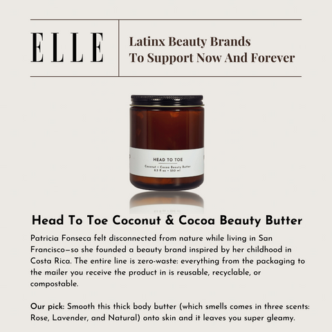 Tap Tap Organics featured in Elle Magazine as Latinx brande to support